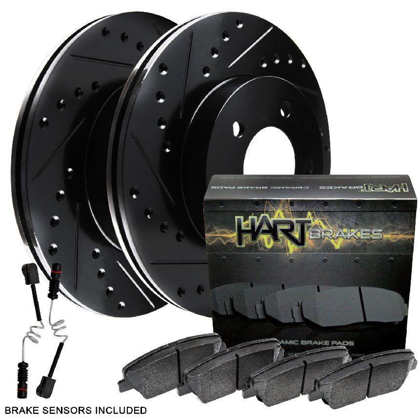 Rear Drill Slot Brake Rotors /& Ceramic Pads For Mercedes Benz ML350 ML450 ML500