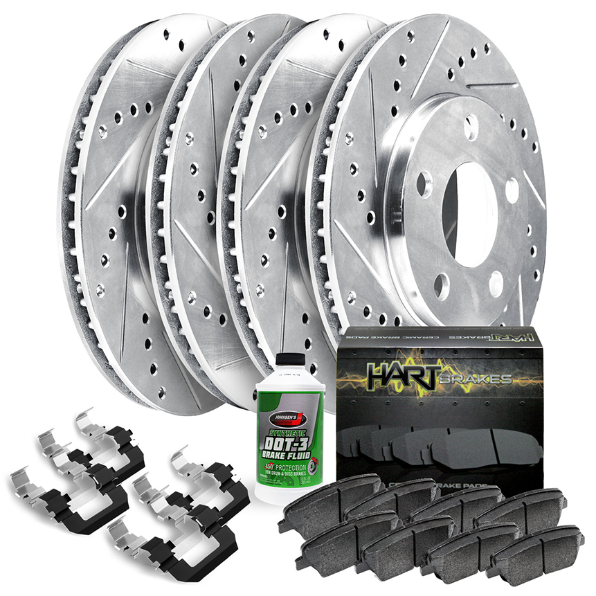 Black Hart *DRILLED /& SLOTTED* Disc Brake Rotors F1986 2 FRONTS