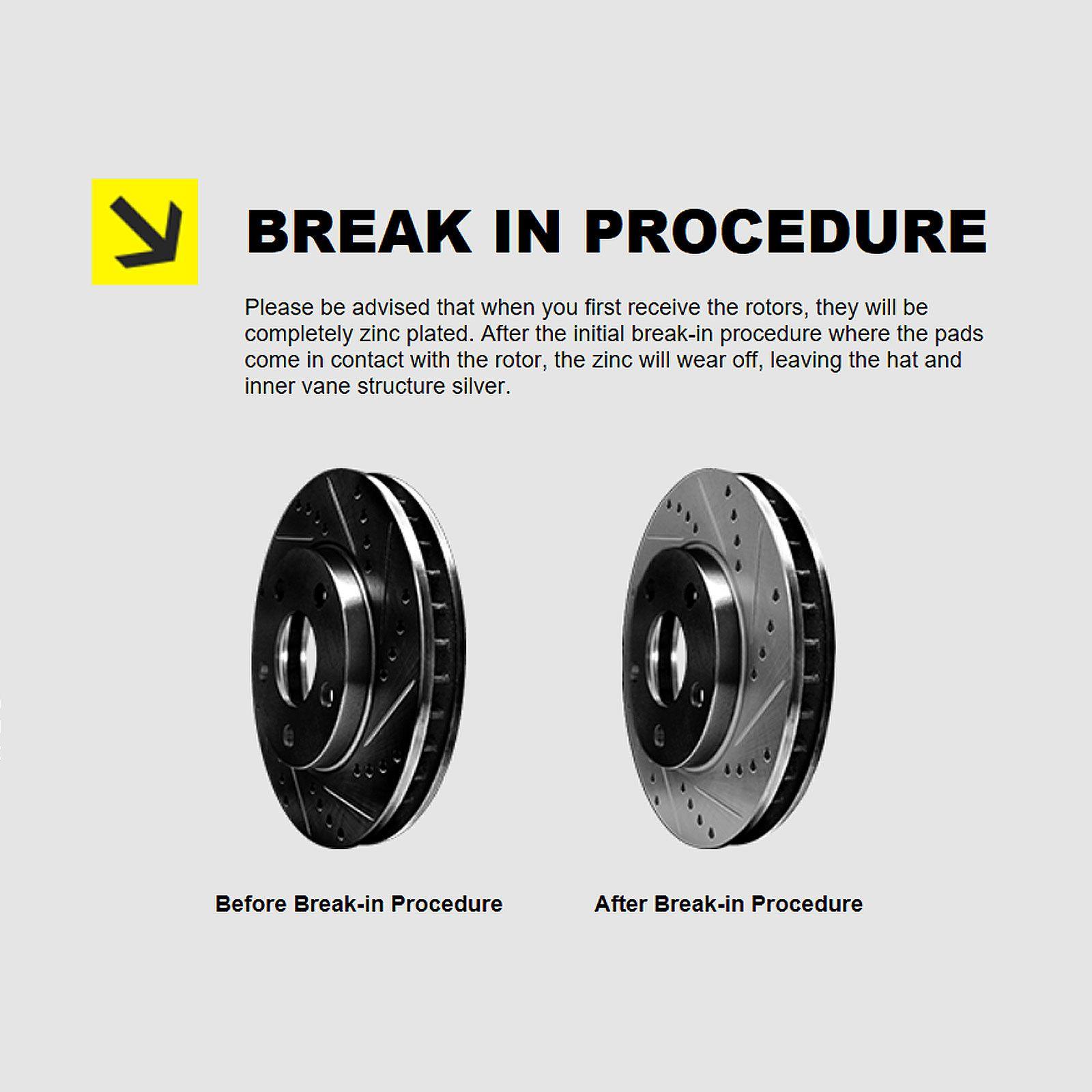 FULL KIT BLACK HART DRILLED SLOTTED BRAKE ROTORS AND CERAMIC PAD BHCC.34068.02