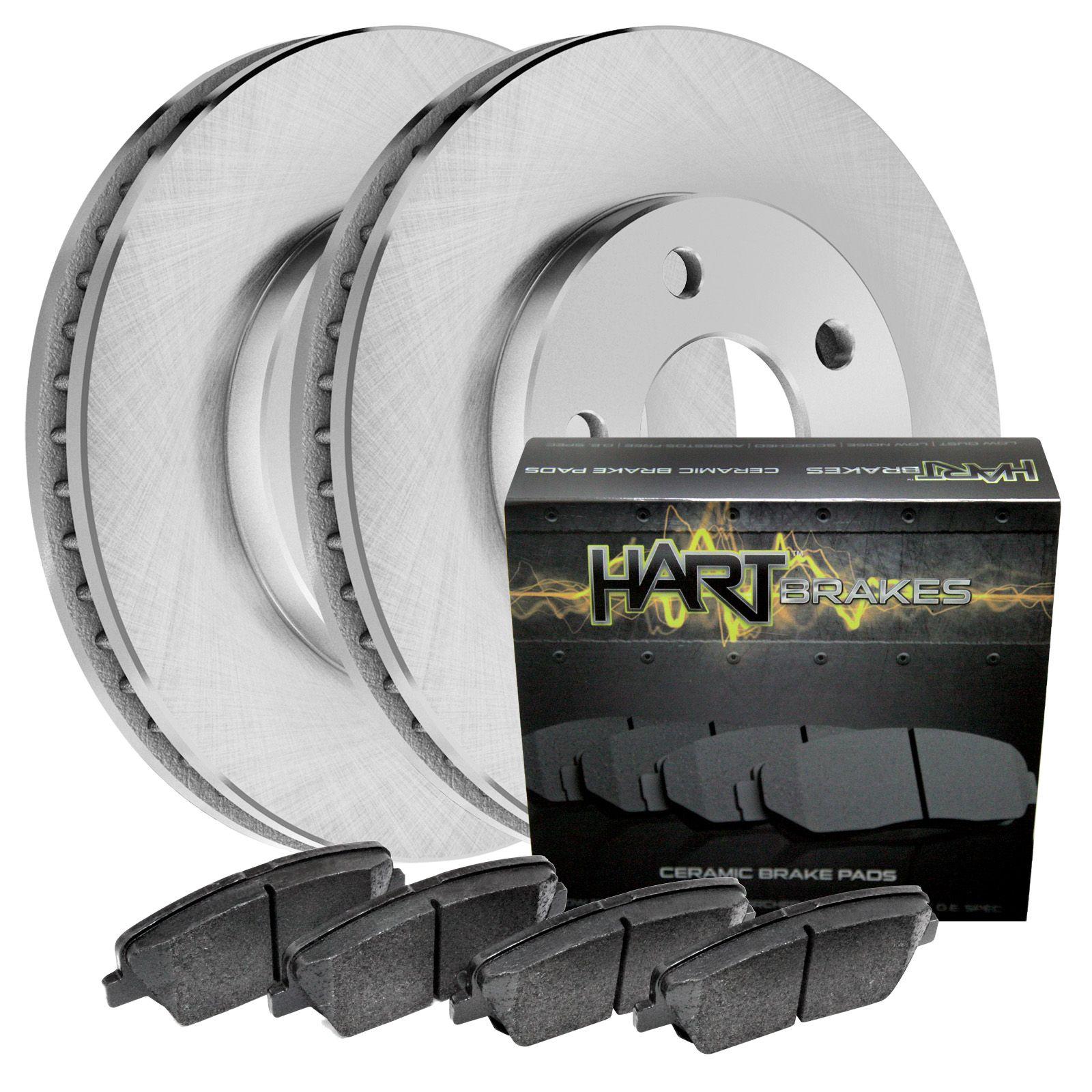 For 1997-2004 Mitsubishi Diamante Hart Brakes Front Rear Ceramic Brake Pads