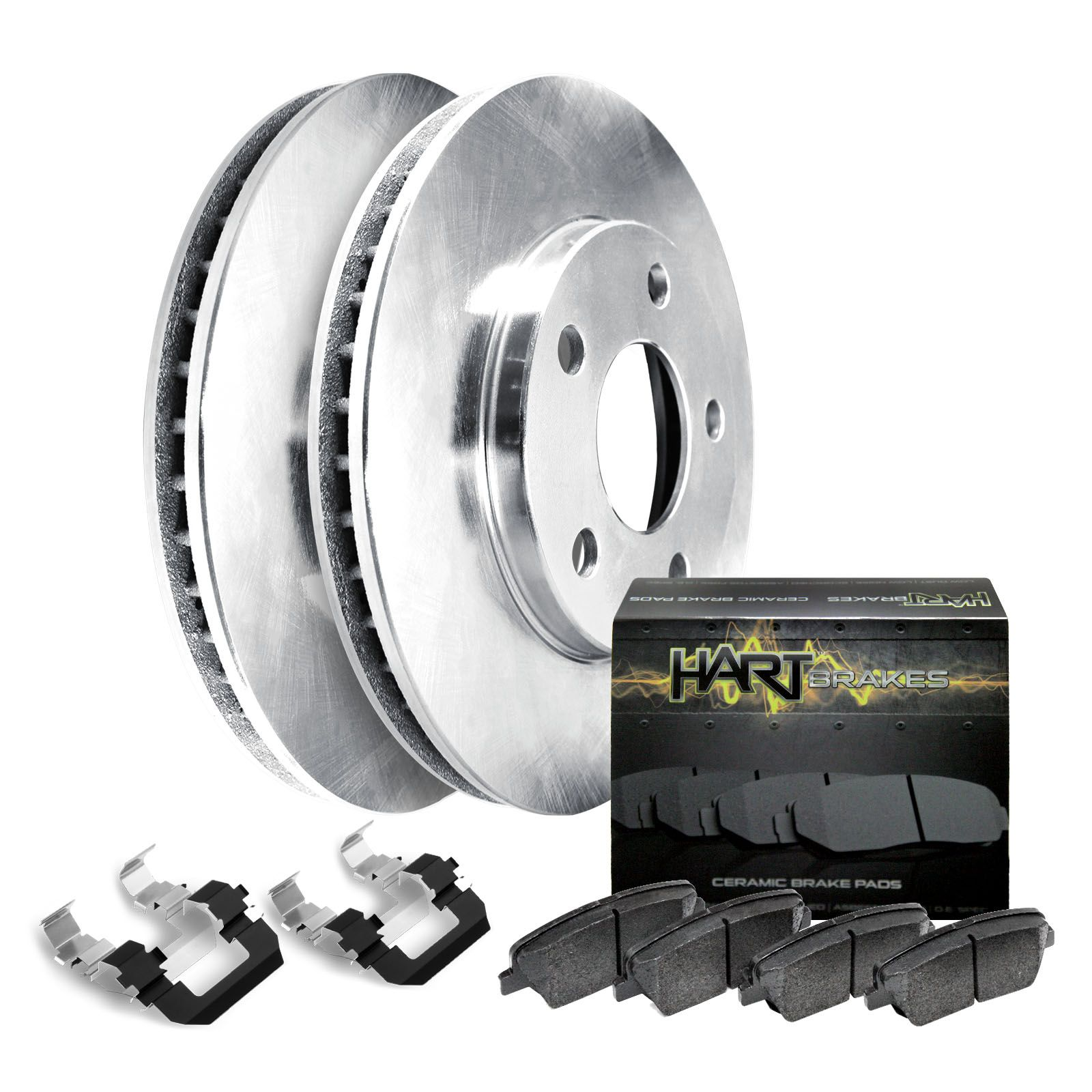 For Mercedes-Benz 300SE 300SEL Rear  Blank Brake Rotors+Semi-Met Brake Pads